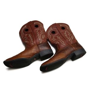 Tony Lama Brown Leather Western Cowboy Boots